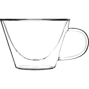 Luigi Bormioli Duos Double-Walled Cappuccino Cup, Set of 2