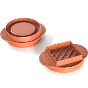 Nordic Ware Brown Adjustable Stuffed Burger Maker and Patty Press