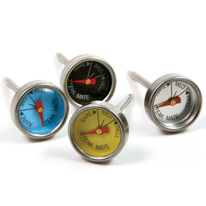 Norpro Stainless Steel Mini Steak Thermometer, Set of 4