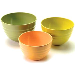 Norpro Ribbed Melamine Bowl, Set of 3