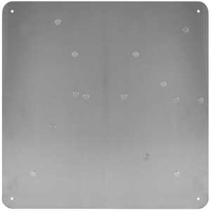 Three by Three Square Dot Stainless Steel Magnetic Bulletin Board, 15 Inch