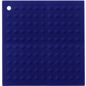 Lamson & Goodnow Hotspot Square Blue Silicone Trivet, 11.5 Inch