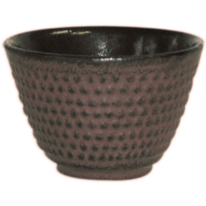 Reddish Brown Cast Iron Tea Cup, Set of 4