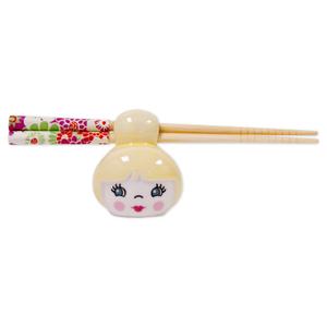 Talisman Designs Cutie Pie Yellow Chopstick Holder