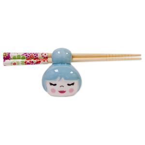 Talisman Designs Cutie Pie Chopstick Holder in Blue