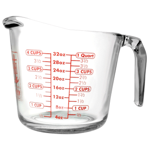 Anchor Hocking Glass Open Handle Measuring Cup, 32 Ounce