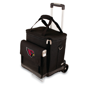Picnic Time NFL Arizona Cardinals Insulated 6 Bottle Cellar Wine Tote with Trolley