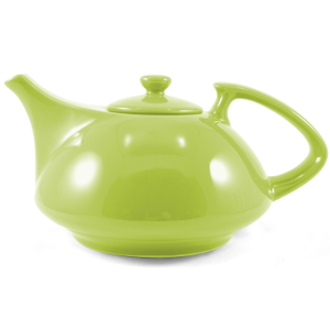 OmniWare Teaz Citron Stoneware Athena 30 Ounce Teapot with Stainless Steel Mesh Infuser