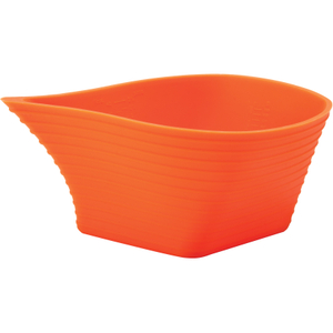 Flexpour Orange Silicone Mixing Bowl, 5 Cup