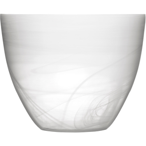 SEAglasbruk Black and White Large White Glass Bowl
