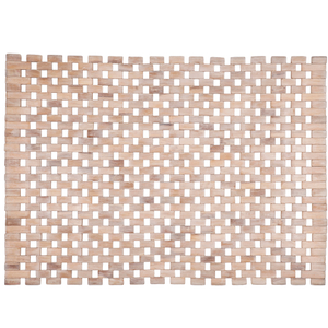 Entryways Roosevelt White Exotic Rubberwood Mat, 18 X 30 Inch