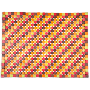 Entryways Muir Candy Exotic Rubberwood Mat, 18 X 30 Inch