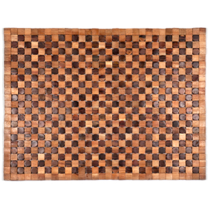 Entryways Adams Natural Exotic Rosewood and Teak Mat, 18 X 30 Inch
