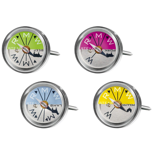 Rosle Stainless Steel Color Coded Steak and Meat Thermometer, Set of 4