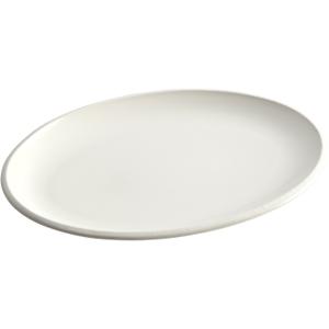 Rachael Ray Rise White Stoneware Oval Platter