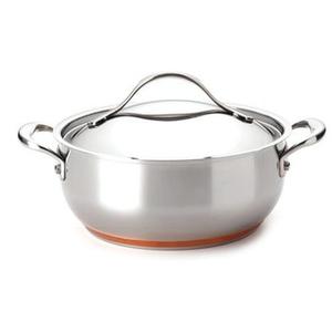 Anolon Nouvelle Copper Stainless Steel Casserole Dish, 4 Quart