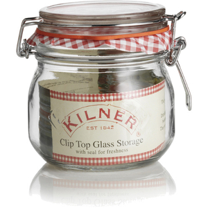 Kilner Glass Round Clip Top Jar, 17 Ounce