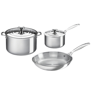 Le Creuset Tri-Ply Stainless Steel 5 Piece Cookware Set