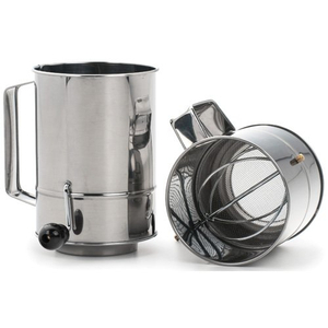 RSVP Endurance Stainless Steel 5 Cup Crank Style Flour Sifter
