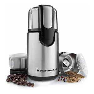 KitchenAid BCG211OB Stainless Steel Coffee and Spice Grinder