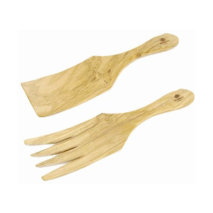 Berard Olive Wood 2 Piece Sauerkraut and Spaghetti Server Set