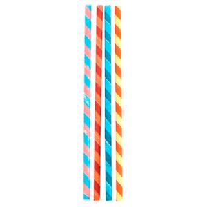 Kikkerland Box of 144 Striped Paper Straws