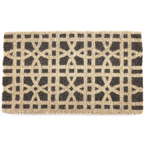 Entryways Ring Formations Handwoven Coconut Fiber Coir 18 x 30 Inch Doormat