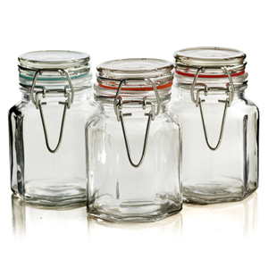 Grant Howard Octagonal 3.5 Ounce Spice Jar, Set of 6