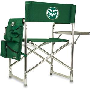 Picnic Time Hunter Green Digital Print Colorado State Rams Aluminum Sports Chair
