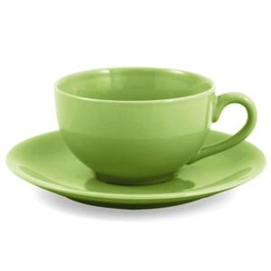 Metropolitan Tea Mojito Lime Ceramic Teacup and Saucer Set