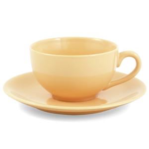 Metropolitan Tea Sahara Ceramic Teacup and Saucer Set