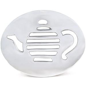 Umbra Teapot Design Polished Aluminum Trivet