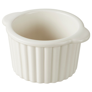 Revol Les Naturels Cream Porcelain 4.5 Ounce Ramekin, Set of 2