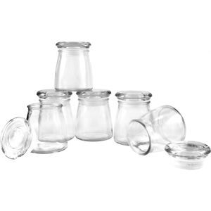 Anchor Hocking 4 Ounce Glass Studio Jar with Lid, Set of 6