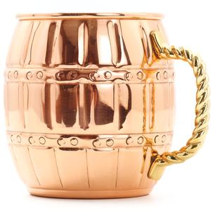 Old Dutch 16 Ounce Solid Copper Barrel Mule Mug, Set of 4