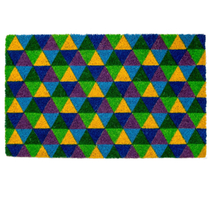 Entryways Triangles Hand-Woven Coir Welcome Mat