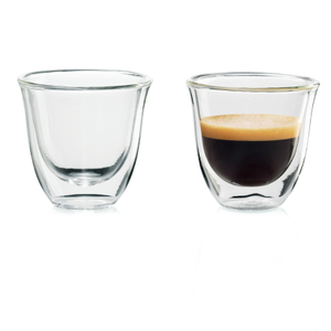 DeLonghi Double Wall 2 Ounce Espresso Glass, Set of 6