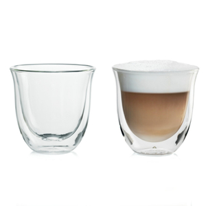 DeLonghi Double Wall 6 Ounce Cappuccino Glass, Set of 6