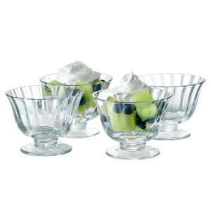 Artland Aspen Coupe Glass Dessert Bowl, Set of 4