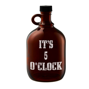 "Artland Barkeep 64 Ounce ""It's 5 O' Clock"" Beer Growler"