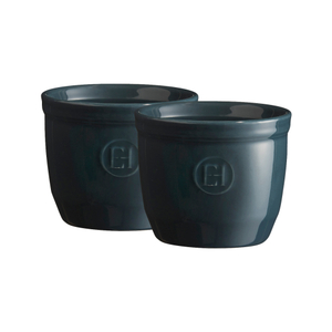 Emile Henry Blue Flame 6.8 Ounce #8 Ramekin, Set of 2