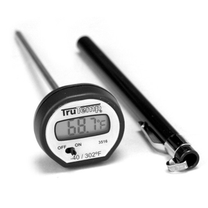 Taylor TruTemp Black Digital Pocket Instant Dial Thermometer