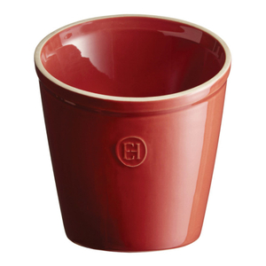 Emile Henry Burgundy Ceramic 5.5 Inch Utensil Pot