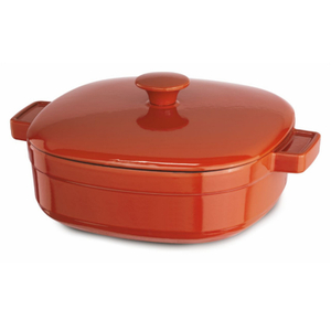 KitchenAid KCLI40CRAU Streamline Autumn Glimmer Cast Iron 4-Quart Casserole Dish with Lid