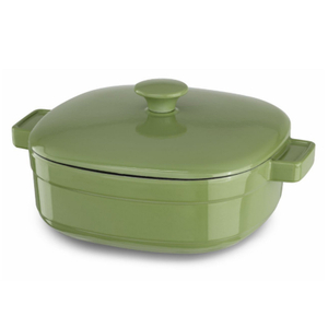 KitchenAid KCLI40CRKI Streamline Kiwi Cast Iron 4-Quart Casserole Dish with Lid