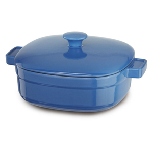 KitchenAid KCLI40CRNB Streamline Spring Blue Cast Iron 4-Quart Casserole Dish with Lid