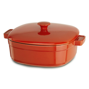 KitchenAid KCLI60CRAU Streamline Autumn Glimmer Cast Iron 6-Quart Casserole Dish with Lid