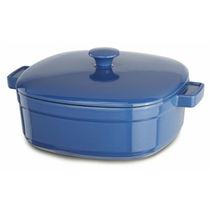 KitchenAid KCLI60CRNB Streamline Spring Blue Cast Iron 6-Quart Casserole Dish with Lid