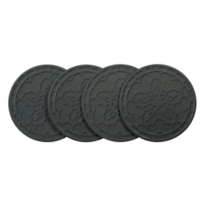 Le Creuset Oyster Silicone French Coaster, Set of 4