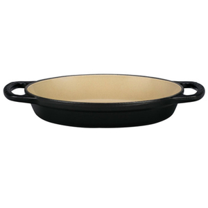 Le Creuset Signature Matte Licorice Enameled Cast Iron 5/8 Quart Oval Baker